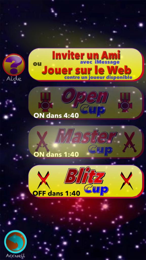 Menu cups français dueltouch jeu multi joueurs iPhone iPad 3dtouch